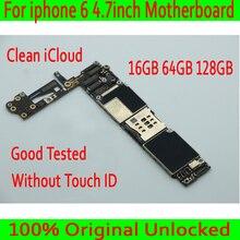16 Гб/64 Гб/128 ГБ для iphone 6 4,7 дюйма материнская плата без Touch ID, 100% оригинал для iphone 6 Заводская разблокирована