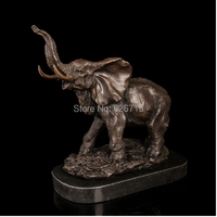 ATLIE BRONZES Antiques Marble Bases Bronze & Brass Decorative sculptures Elephant Young Statue collectible elephants Decoration