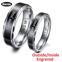 Customized Tungsten Carbide Couple Ring Personalized Engraved Lover Ring Engagement Promise Band Free Shipping