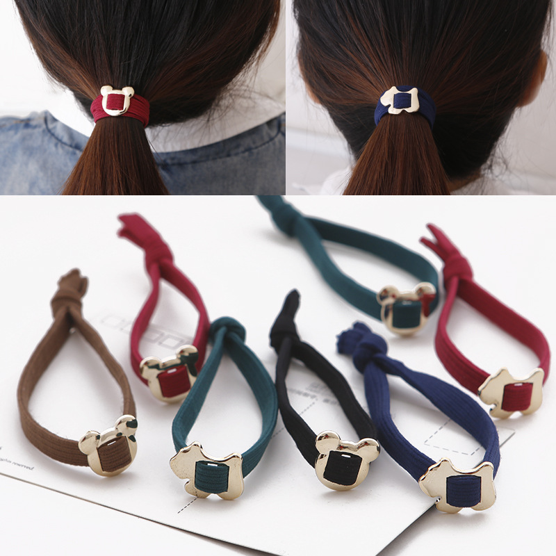 Han edition hair knot rope Elastic hair bands South Korean cartoon hair rope head hair accessories 2016 sale new arrival headband korean flower cartoon girls elastic hair bands accessories rope ties princess gift 6 pcs