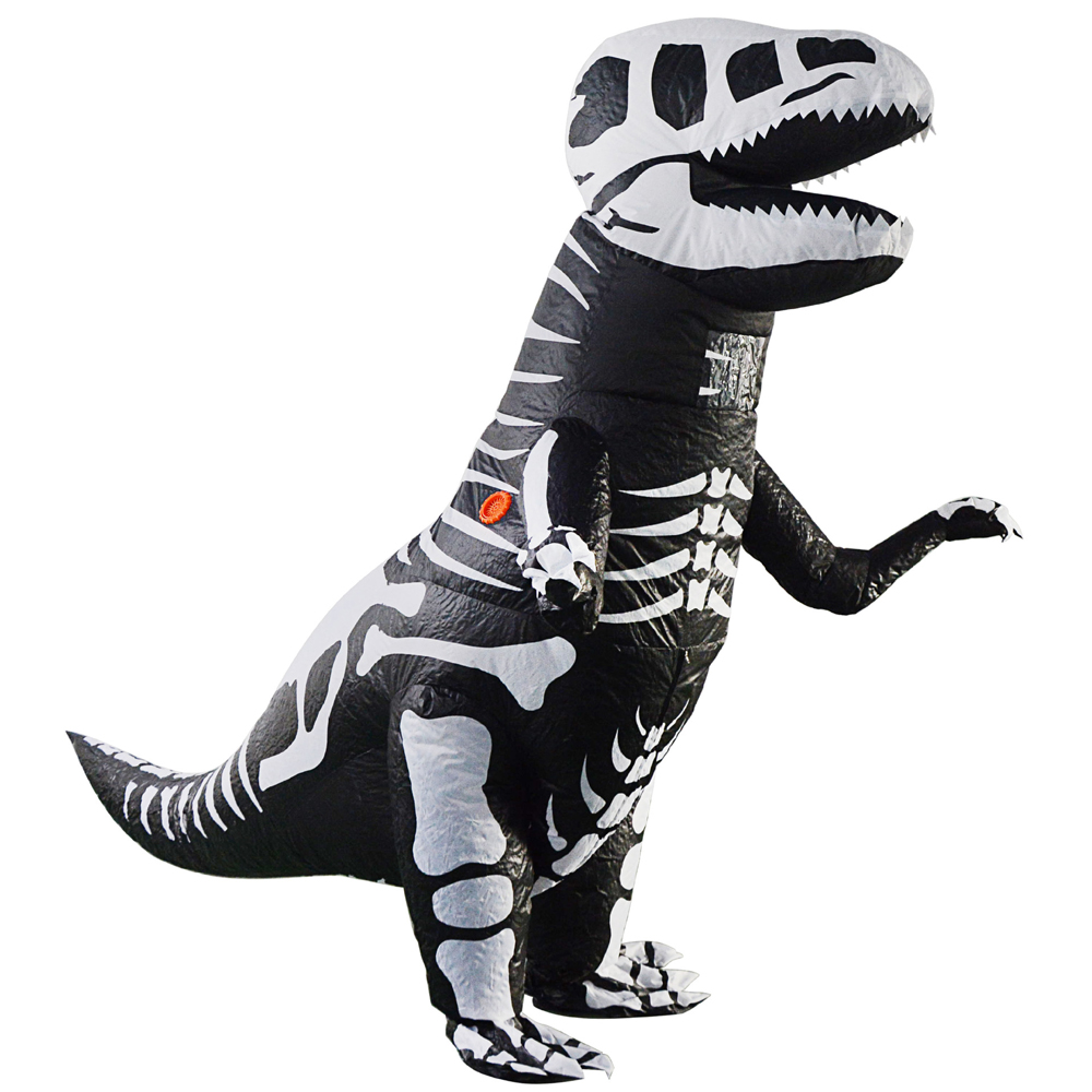 Inflatable Skeleton Dinosaur Costume T Rex Halloween Cosplay Costume Christmas Party Festival Stage Performance Clothing