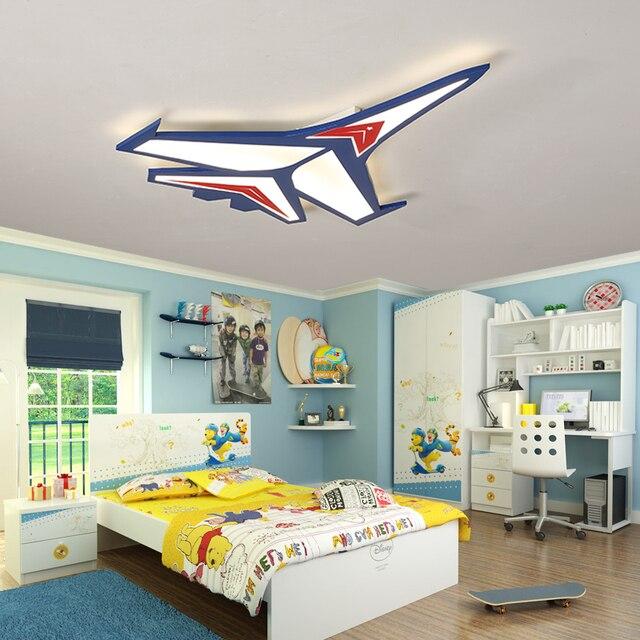 Children S Room Led Ceiling Lamp Bedroom Aircraft Cartoon Light Kids Lights Kindergarten Lamps Wl3291535