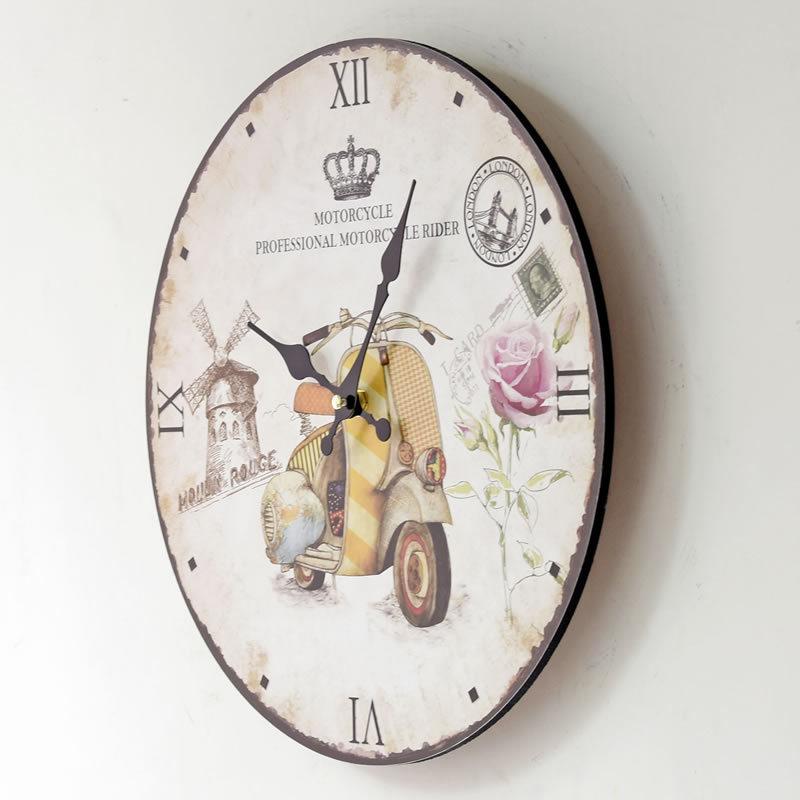 Eropa Retro Signle Wajah Kayu Bulat Menggantung Jenis Jarum Kuarsa Jam  Dinding Jam Untuk Dekorasi Rumah di Wall Clocks dari Rumah   Taman  AliExpress.com ... 1738b35d59