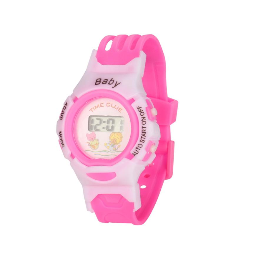 New Children's Indoor Outdoor Required Baby Boy Girl Alarm Date Digital Multifunction Sport Led Waterproof Kid Wrist Watch  #d