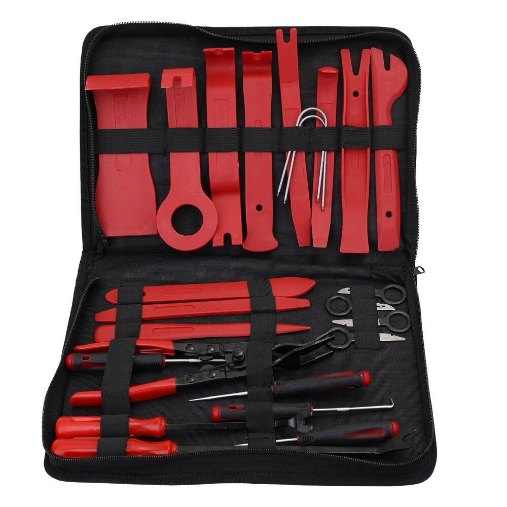 24 pçs/saco ferramenta de reparo de rádio do carro de áudio ferramentas manuais interior painel da porta diy demolição instalação pry tool kit estilo do carro