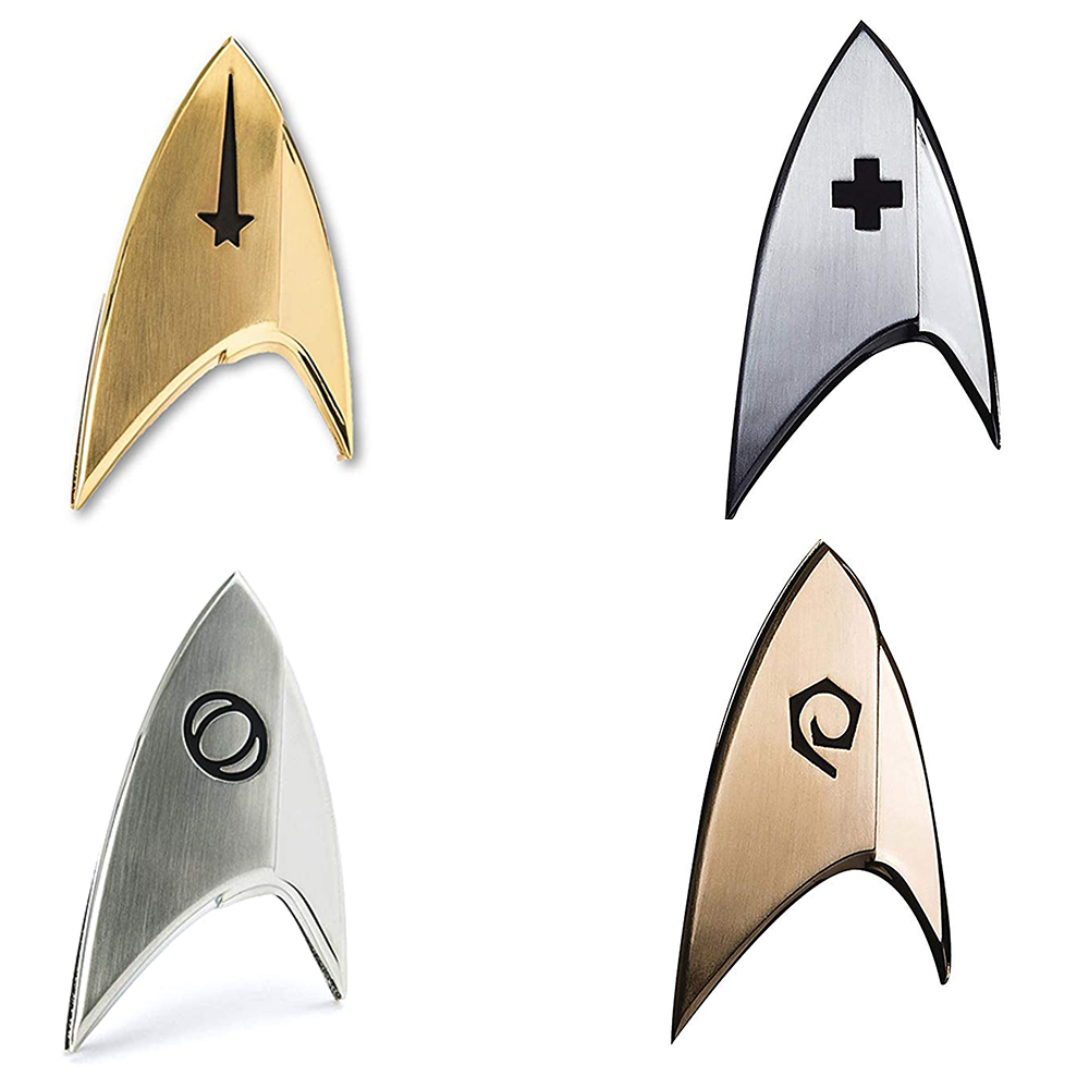 Star Trek Badge Pin Brooches Deluxe Cosplay Starfleet Command Science Operations Medical Badges Halloween Insignia Props