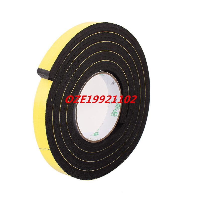 18mm x 10mm Single Sided Self Adhesive Shockproof Sponge Foam Tape 2M Length 2pcs 2 5x 1cm single sided self adhesive shockproof sponge foam tape 2m length