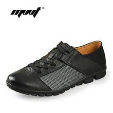 New Arrival Genuine Leather Men Shoes Fashion Breathable Mens Casual Shoes Cowhide Lace Up Men Flats Shoes