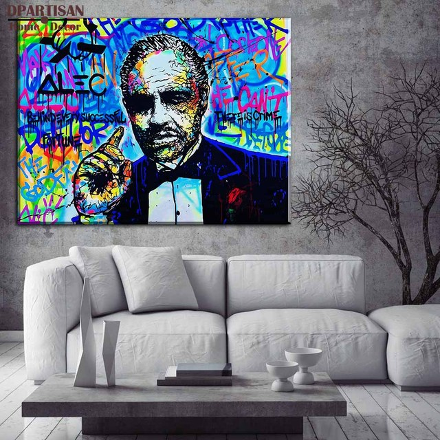 The Godfather for Alec monopoly Graffiti art print canvas for wall ...