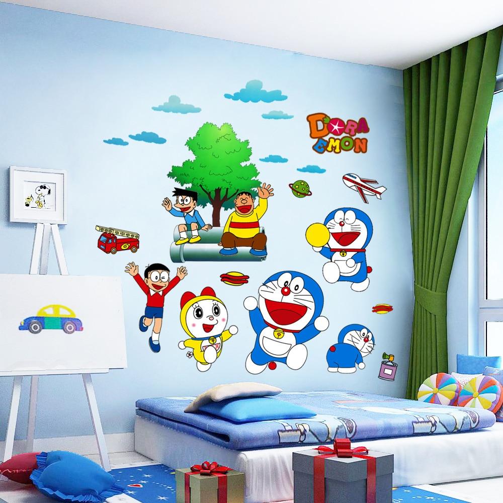 Children Reading Room Wall Sticker With Cartoon Theme