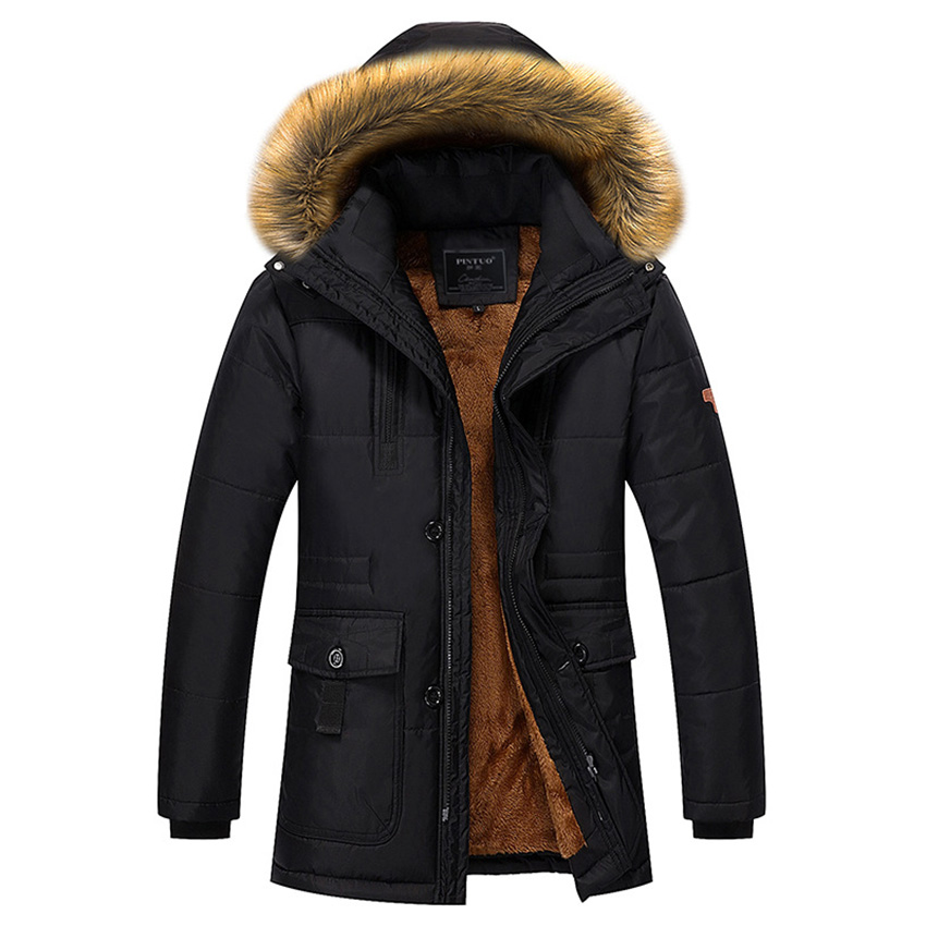 Free Shipping 2017 Winter New Men Middle-aged Down Jacket Father Cotton Padded Thick Warm Outwear Jackets D140 free shipping the new winter 2016 men down jacket brand men s 90% feather coat more men with thick cotton padded jacket m xxxl