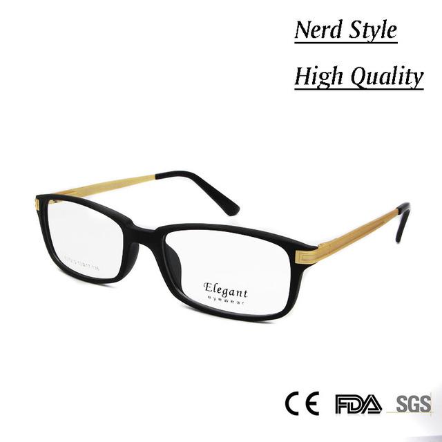De alta Qualidade Da Moda das Mulheres Prescrição Rx Óculos Homens Armação de óculos TR90 Quadro óculos de Nerd Vidro Retangular De Metal Misturado