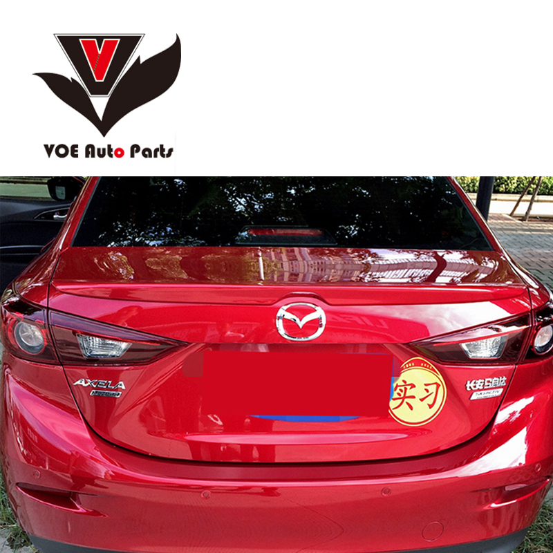<font><b>2014</b></font> 2015 2016 AXELA ABS Plastic Unpainted Rear Wing Lip <font><b>Spoiler</b></font> for <font><b>Mazda</b></font> AXELA image