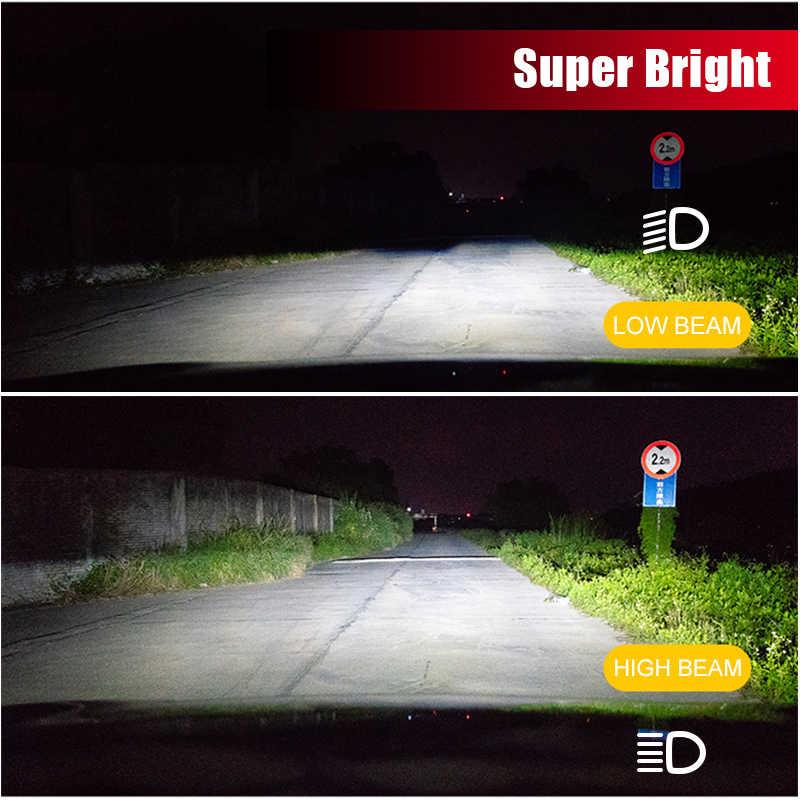 Faro Super LED BraveWay H4 H7 H11 lámparas LED para coche 12V 9005 HB3 9006 HB4 9012 HIR2 H4 bombillas Led para Auto bombilla de hielo Chip CSP