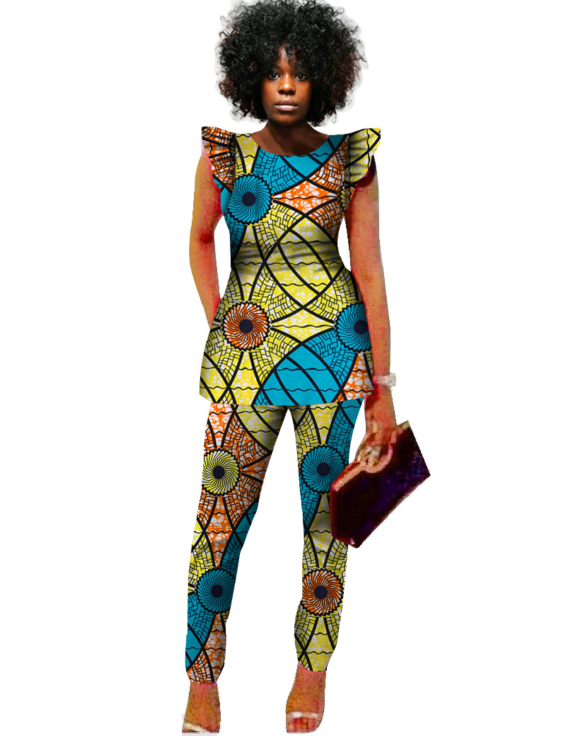 dashiki women 2 piece pants sets afrikaanse jurken 2 piece