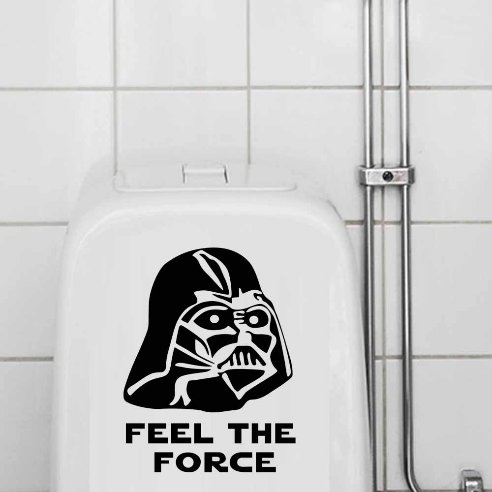 Storm Pooper Toilet Seat Sticker Star Wars Funny Cartoon Door Decals DIY Art Wallpaper Poster For Bathroom Home Decoration
