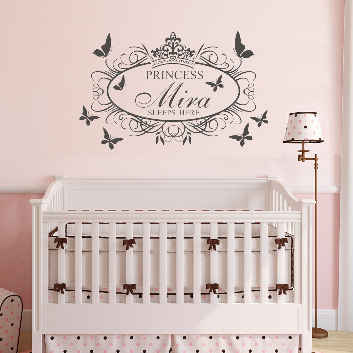 C187 wall stickers custom name sleep crown flower decal for kids c187 wall stickers custom name sleep crown flower decal for kids room decor removable vinyl decor for nursery in wall stickers from home garden on izmirmasajfo