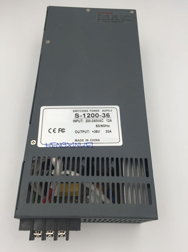 s 1200 36 1200W 36v Switching power supply for LED Strip light AC to DC power