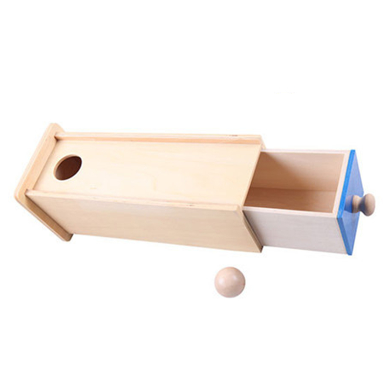 Montessori Material Kids Wooden Toys Pellet Cuboid Drawer Box Baby Child Early Development Teaching Aids