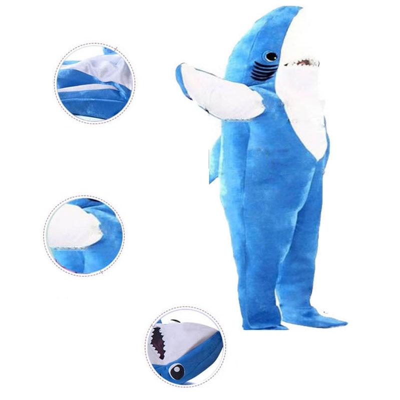 Adults Kids Halloween Christmas Cosplay Costume Shark Stage Fancy Jumpsuit N5958