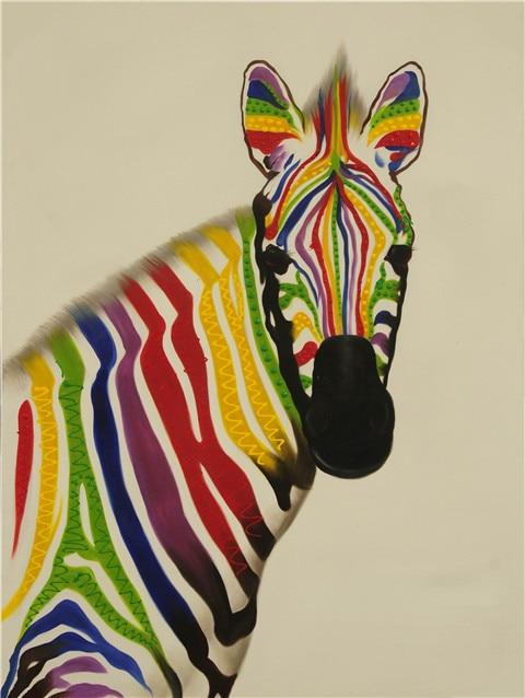 Nieuwe moderne cartoon dier kleur zebra canvas drukken nieuwe moderne cartoon dier kleur zebra canvas drukken olieverfschilderijen afgedrukt op canvas kid kamer muur decoratie foto in nieuwe moderne cartoon dier thecheapjerseys Gallery