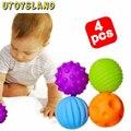 UTOYSLAND 4 Pçs/set Massagem Bola de Captura Mão Do Bebê com Efeito de Som Cedo Brinquedo Educativo Para Crianças dos miúdos