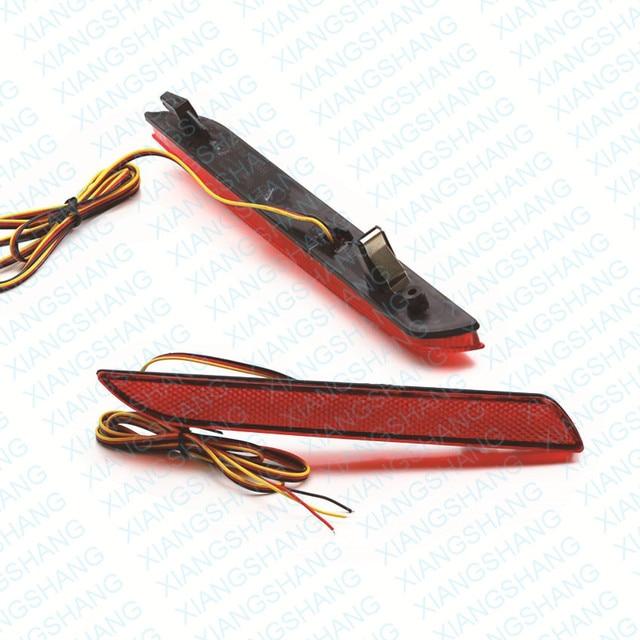2x red levou choques refletor traseiro luz de aviso luz da cauda do freio de estacionamento para honda fit/stepwgn rg