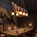 Retro Industrie Anhänger Lampe 6 kopf Alten Boot Holz Licht Amerikanischen Land stil Edison birne Kostenloser Versand|Pendelleuchten|Licht & Beleuchtung -