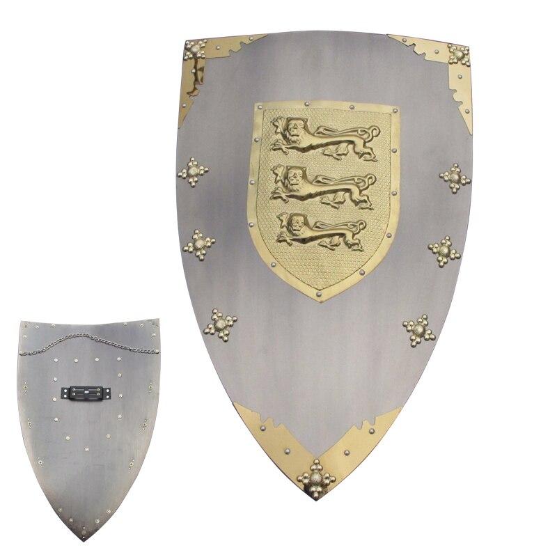 Pour Richard le Lion chaleur Miedieval Rnight ornements suspendus-matériel en acier de fer affichage décoratif