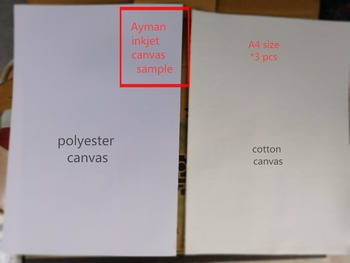 5 sztuk A4 rozmiar 240g poliestrowe płótno do drukarek atramentowych i 350g bawełny do drukarek atramentowych tanie i dobre opinie colormaker Druk atramentowy 100 polyeseter 6 lat Malarstwo na płótnie White 100 polyester cotton Matt coating 13mil