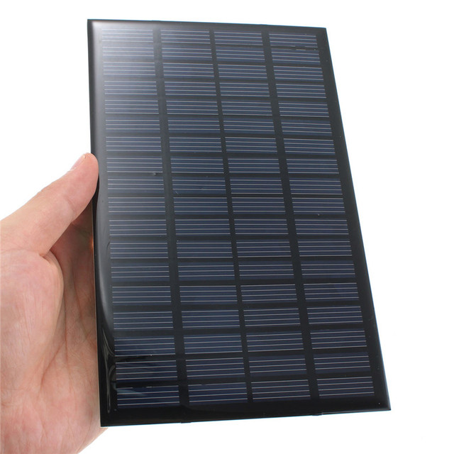 18V 2.5W 135mA Epoxy Solar Panels Mini Solar Cells Polycrystalline Silicon DIY Battery Power Charge Module 19.4cm x 12cm x 0.3cm
