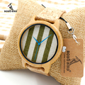 2017 BOBO BIRD TOP Brand Watches Bamboo Casual Quartz Watch Women Wooden Wristwatch Relogio Feminino C-A29