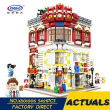 XingBao 01006 5491Pcs Siri MOC Kreatif Asli Siri Rumah Mainan dan Set Kedai Buku Kanak-kanak Blok Bangunan Bata Hadiah Model Toy
