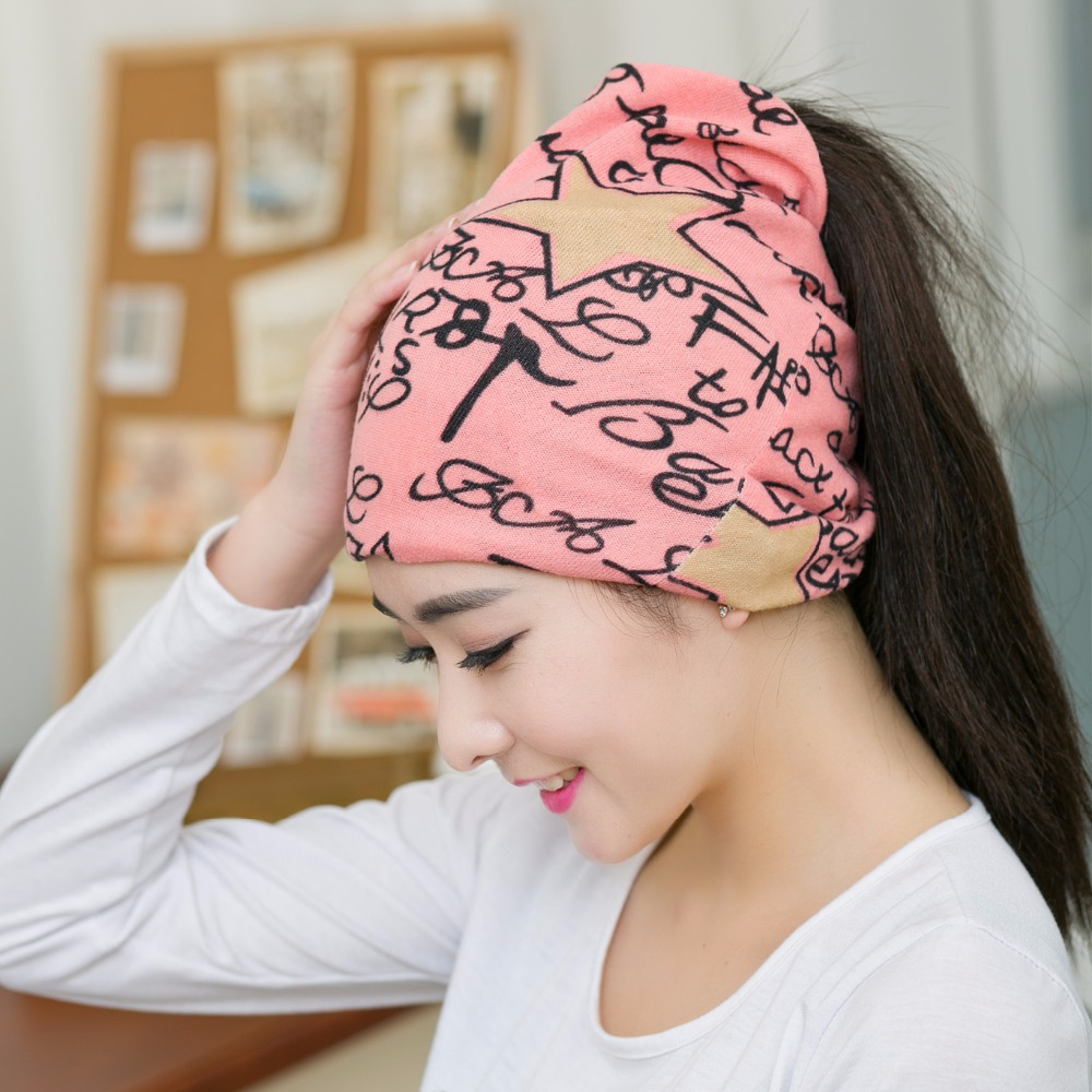 4297b555accee1 1PC New Spring&Autumn Pink Color Women Beanies Hat Scarf 3 Way To Wear  Multifunctional Popular Warm Girls Beanies-in Women's Skullies & Beanies  from Apparel ...