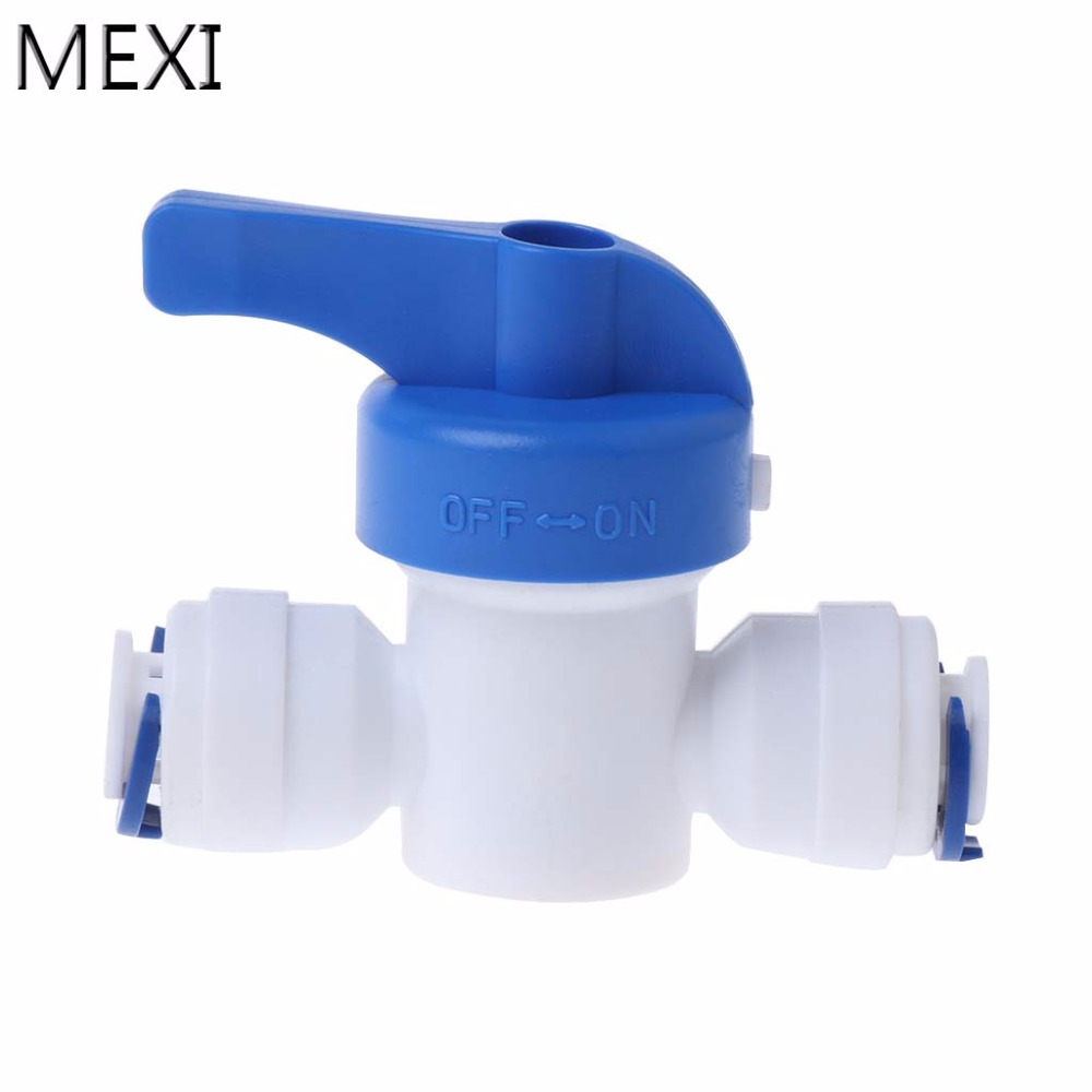 MEXI 1/4'' Inline New Ball Valve Quick Connect Shut Off For RO Water Reverse Osmosis