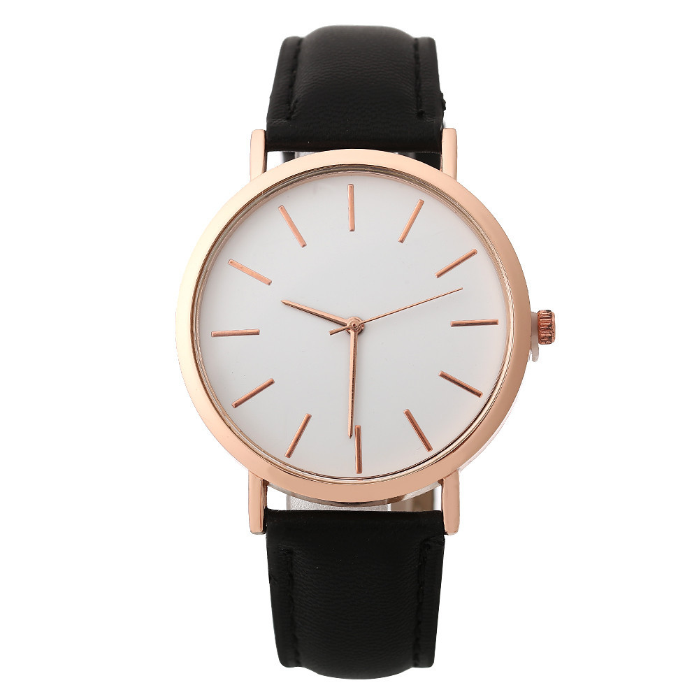 Woman Classic Multi-Color Simple Fashion Leather Band Analog Quartz Round Wrist Watch Watches Reloj Mujer C50