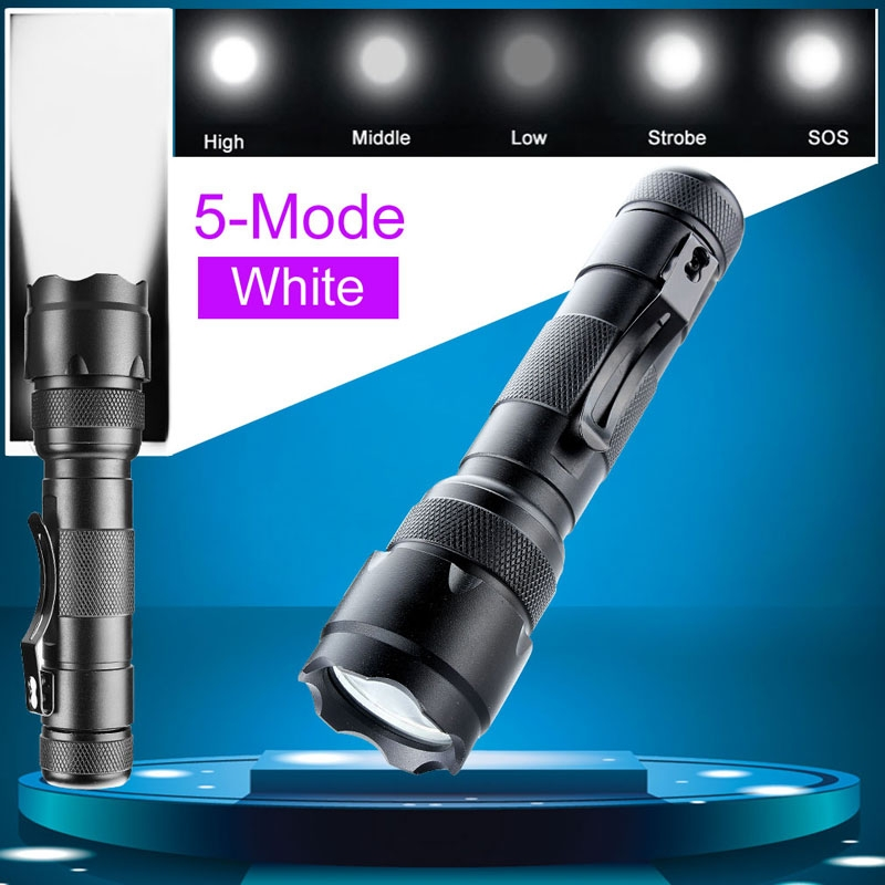 Best Quality Tactical WF-502B XM-L T6 Led 300 Lumens 5 Modes Flashlight Camping Hunting Torch Lamp For 18650 battery 3800 lumens cree xm l t6 5 modes led tactical flashlight torch waterproof lamp torch hunting flash light lantern for camping z93