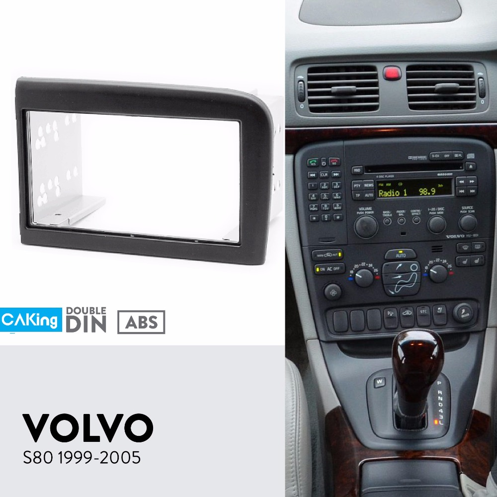 Car Fascia Radio Panel for VOLVO S80 1999 2005 Dash Kit Install Mount Facia Plate Adapter