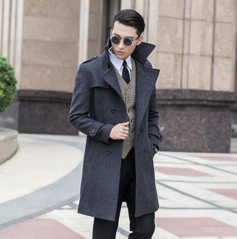 Jaqueta masculina casaco fashion wool coat men Double-breasted coat men trench coats sobretudo manteau veste homme plus size 9XL