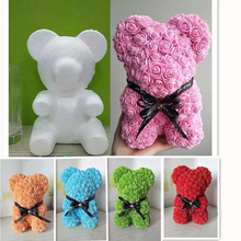 2019 Hot Sale 25cm Soap Foam teddy rose Bear Artificial flower bear for New Year  /Valentines /Christmas and girlfriend gift box