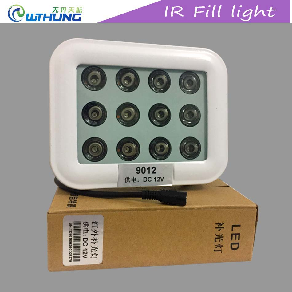 IR Led illuminator 12pcs 850nm Array infrared Led lamp Light IP67 Outdoor Waterproof IR Night Vision for CCTV Security Camera dc 22 shining hot selling drop shipping outdoor uf t20 cree infrared ir 850nm night vision zoom led flashlight lamp