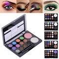 14 cores/set Profissional Cores Quentes Neutral Glitter Diamante Eyeshadow Blush Palette Cosméticos Caixa De Maquiagem Com Espelho Escova