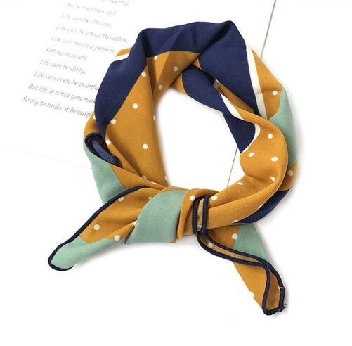 Silk scarf women Spring Summer Retro Scarf Multicolor head  Scarf Stripe Design Print Kerchief Woman Neck Shawl Wraps Echarpe