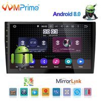 AMPrime 10.1 inch screen Octa core 2 din android 8.0 universal Car Radio Double DVD GPS Navigation In dash PC Stereo video wifi