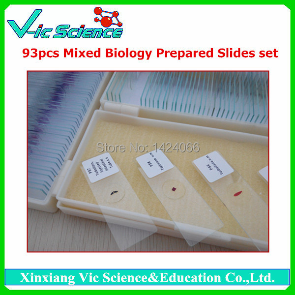 93pcs mixed biology prepared slides set fixed set teaching resources university students study 78pieces medical parasite prepared microscope slides