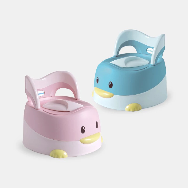 Cute Bebe Duck Portable Potty Child Cartoon Toilet Seat Kids WC Toilets For Boys Girls Baby Potty Training For Free Potty Brush