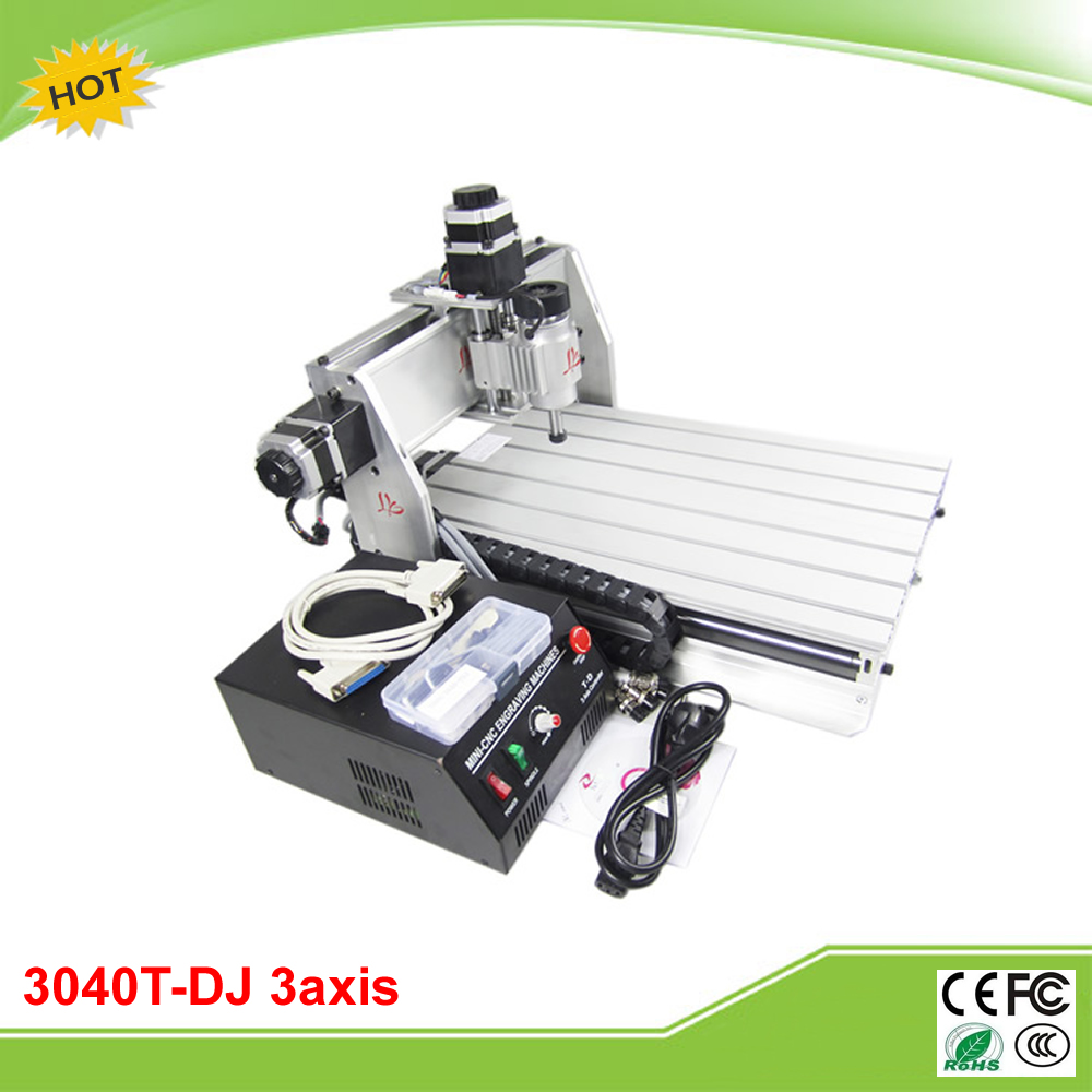 CNC 3040T-DJ 3 axis 220/110V 230W mini CNC router with linear bearings for PCB/wood cnc 5axis a aixs rotary axis t chuck type for cnc router cnc milling machine best quality