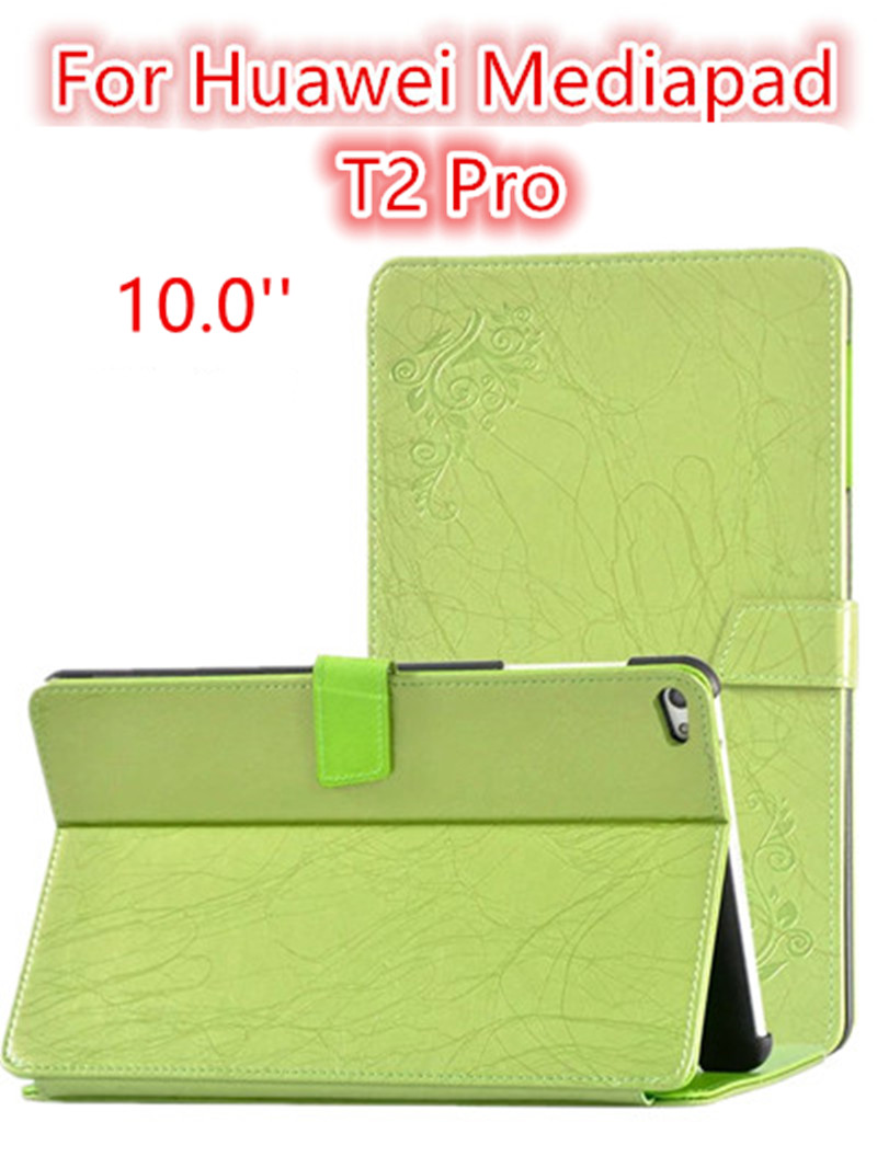 For Huawei Mediapad T2 pro 10 ultra-thin filp Leather Case 10.1'' Tablet PC dormancy PU Protective Shell Skin protective stand