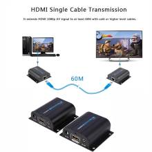 LKV372A HD 1080P HDMI Extender TX/RX 60M with IR over CAT6 RJ45 Ethernet Cable Support HDMI 3D for HDTV DVD Player Digital Cable