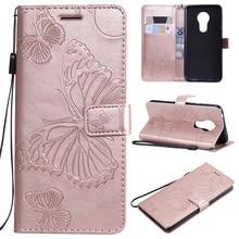 купить Butterfly PU Leather Flip Case For Motorola Moto G7 G5 G5s Plus Power Play G6 Plus 2018 G4 Play G2 Wallet Book Bag  Cover Coque дешево